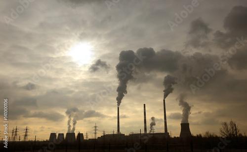 Fototapeta smokestack pipe plant obraz na płótnie