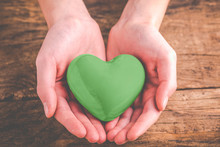 Green Heart In The Hands - Eco Friendly Concept