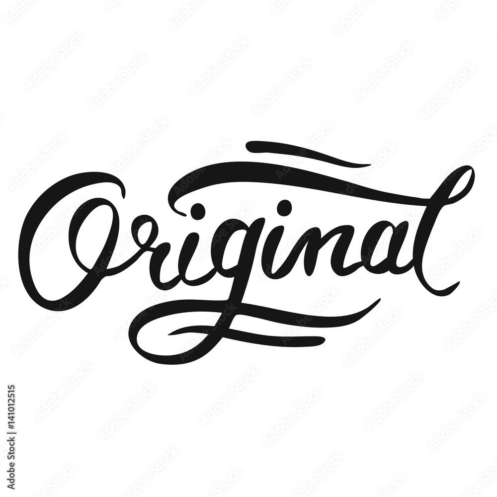 Fototapeta Original Vintage Typography Logo