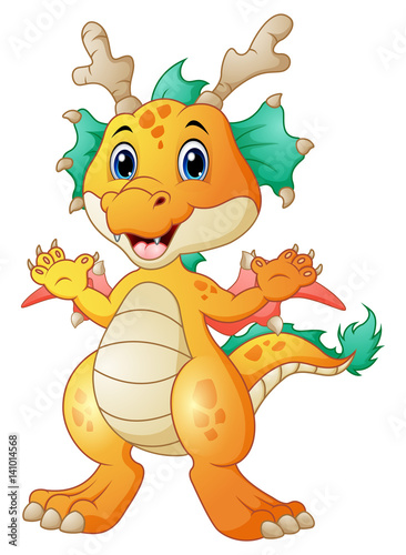 In de dag Sprookjeswereld Cute dragon cartoon