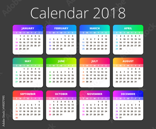 Yearly Calendar 2018 Template from as2.ftcdn.net