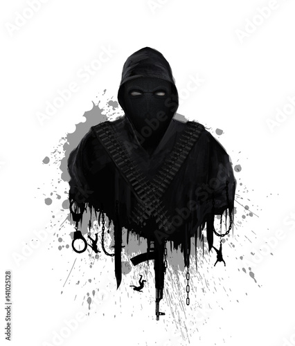 Obraz na plátně  Symbol of global terrorism
