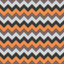 Chevron Pattern Seamless Vector Arrows Geometric Design Colorful Orange Beige White Black