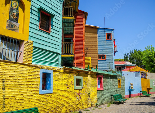 Keuken foto achterwand Buenos Aires Colorful houses in Caminito, Buenos Aires