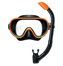 Dive Mask And Snorkel For Prof...