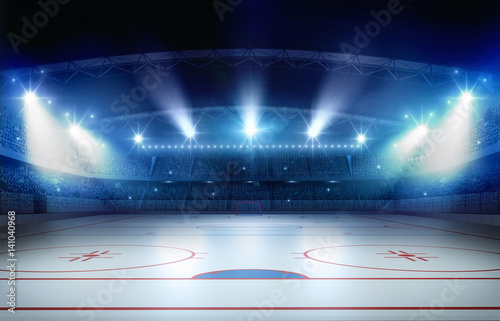 Ice hockey stadium 3d rendering Canvas Print