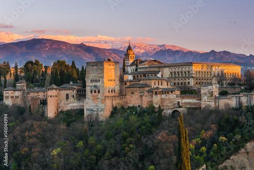 Pinturas sobre lienzo  Arabic palace Alhambra in Granada,Spain