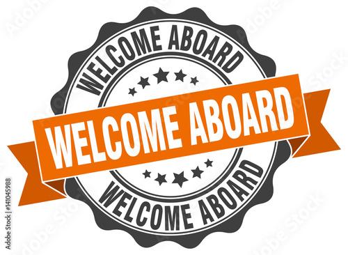 Fotografie, Obraz  welcome aboard stamp. sign. seal