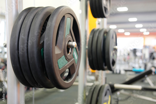 Aluminium Prints F1 Weights in a fitness hall