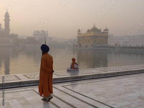 Guard at Golden Temple Amritsar Canvas Print