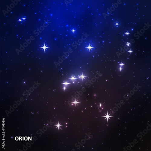 Fotomural Orion constellation in the night sky