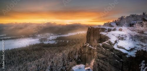 Fototapeta Zachód Słońca na Szczelińcu Wielkim obraz