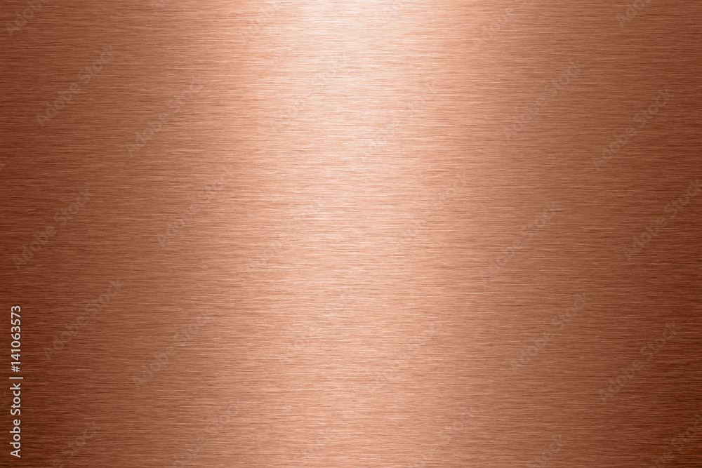 Fototapeta Kupfer Oberfläche gebürstete Struktur