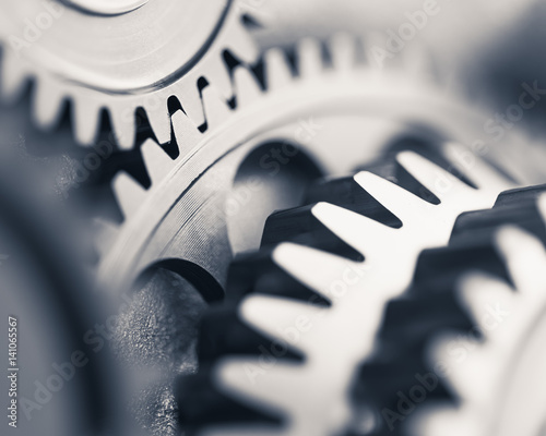 Fotografie, Obraz  engine gear wheels, industrial background