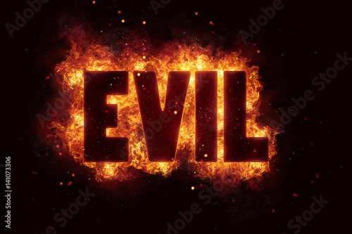 evil Fire Satanic sign gothic style evil esoteric Wallpaper Mural