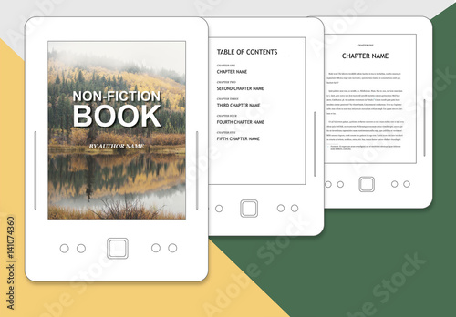 Non-Fiction Book Layout for ePub. Buy this stock template and ...
