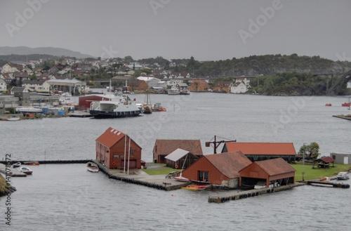 Foto op Aluminium Poolcirkel ruelles de Stavanger en Norvège