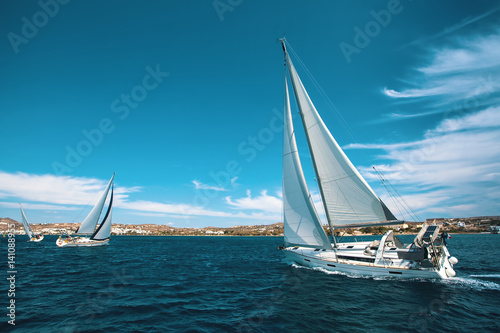 Fototapeta  Luxury yachts at regatta