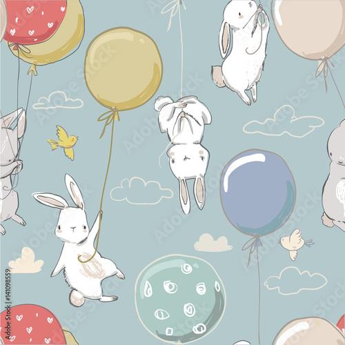 wzor-z-slodkimi-malymi-zajacami-i-balonami