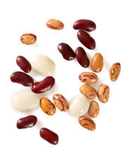 Assorted Beans Isolated On Whi...