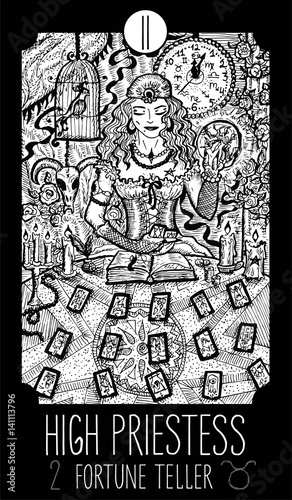 High Priestess  Tarot card Major Arcana See all collection