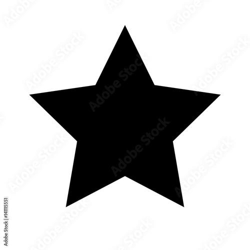 Fotografía Schwarzes einfaches Symbol -  Stern - Favorit