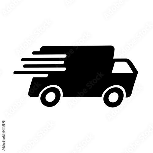 Schwarzes einfaches Symbol - Lieferung - Lieferservice - Buy this ...