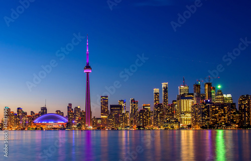 Fotografija  Toronto city skyline at night, Ontario, Toronto