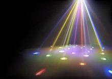 Disco Lights Background With Spotlights Effect - Abstract Illustration, Vector