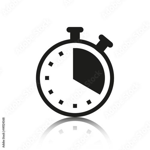 Fotografía  clock icon stock vector illustration flat design
