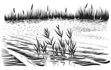 Vector Illustration Of River L...