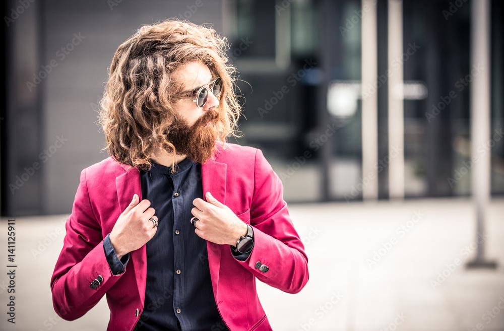 Fototapeta Cool hipster portrait