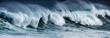 canvas print picture - big sea wave