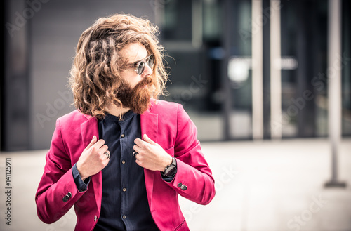 Cool hipster portrait