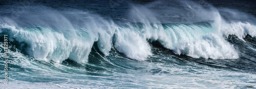 Spoed Foto op Canvas Water big sea wave