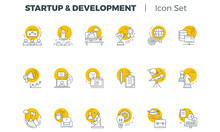 Start Up And Development Vector Icon Set