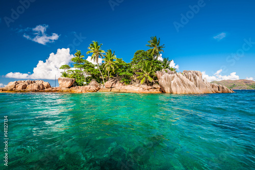 Poster Eiland St. Pierre Island at Seychelles