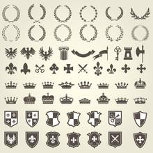 Heraldry Kit Of Knight Blazons...