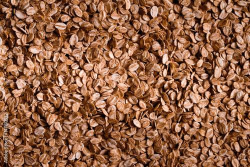 Photo Food texture, oatmeal
