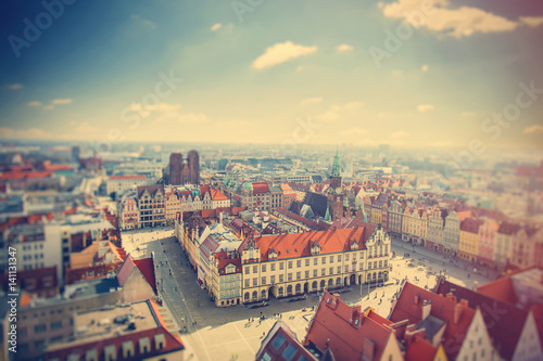 photo of wonderful view of beautiful Wroclaw on the clear sky background © Masson