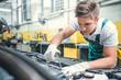 Mechanic in service