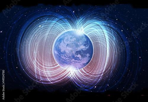 Magnetic field of earth Wallpaper Mural