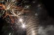 canvas print picture - Explosion eines Feuerwerks vor dem Jentower in Jena - Deutschland