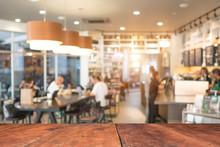 Coffee Shop Blur Background Wi...