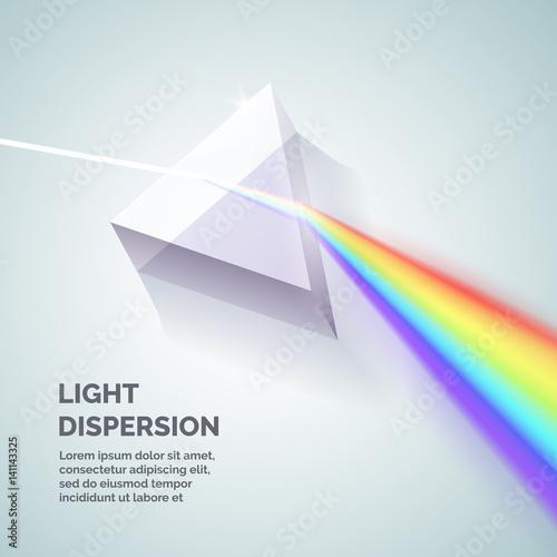 Fotografie, Tablou Light dispersion illustration