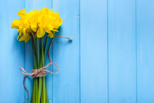 Spring Background With Daffodi...