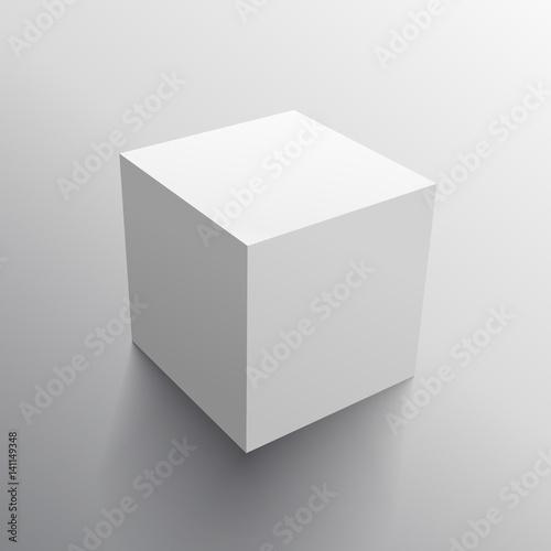 Photo  realistic 3d cube box design template