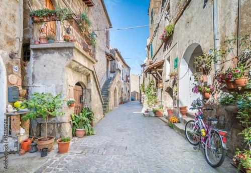 Fotobehang Oude gebouw Scenic sight in Barbarano Romano, medieval village in Viterbo Province, Lazio, Italy