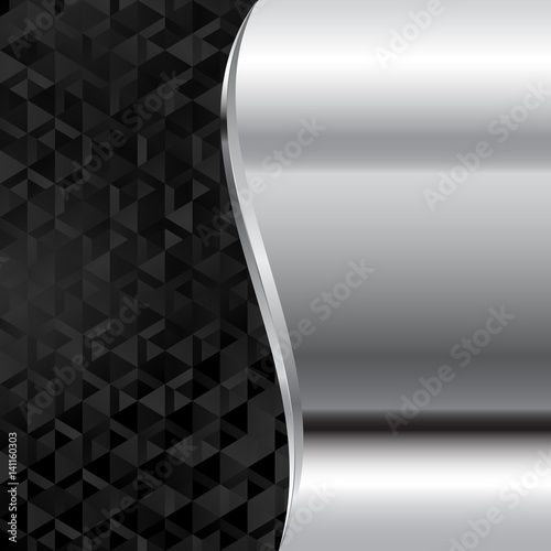 Fotografia, Obraz  metal background with black texture divided into two