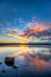 An sunset oveer the lake vesijärvi